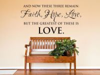 And Now These Three Remain Faith Love Wall Art Sticker ...